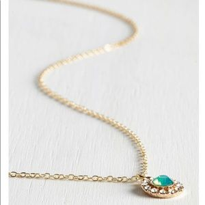 ModCloth Delicate Drop Necklace in Mint
